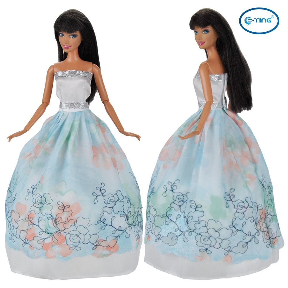 E-TING Doll Clothes Evening Dress Princess Gown Party Outfit For ...