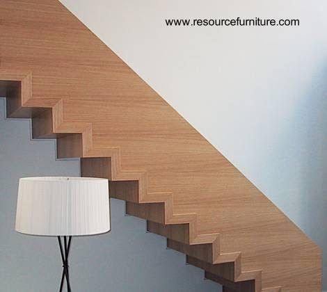 Original diseño de escalera minimalista en Estados Unidos