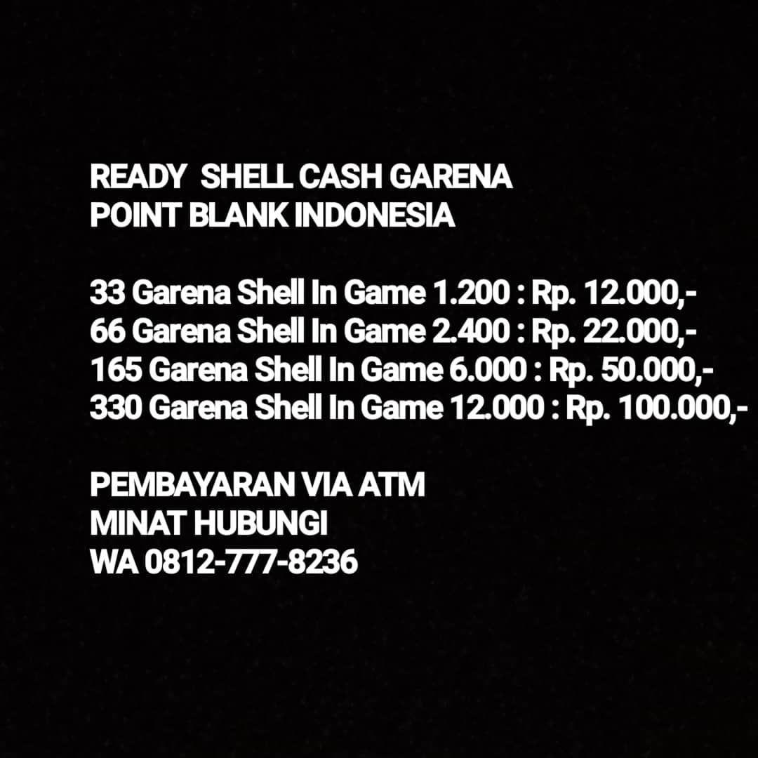 Minat Wa 0812 777 8236 Garenaindonesia Garenapointblankindonesia Garena 50 Shell Jasagbpointblank Jasagbpb