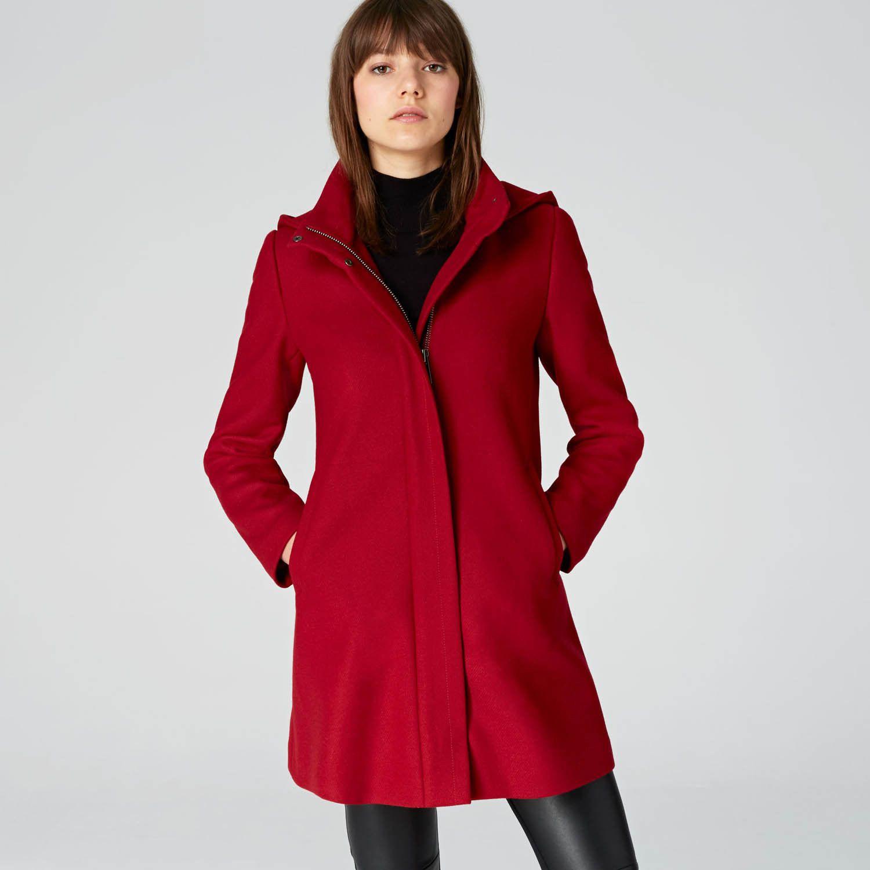 Esprit mantel mit stehbund aus woll mix