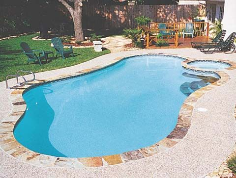 A simple pool/spa design | Future Home | Pinterest | Simple pool ...