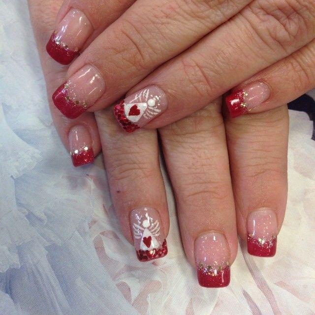 Angels Angel Nails Christmas Nails Acrylic Nails