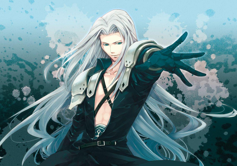 Blue Eyes Final Fantasy Final Fantasy Vii Long Hair Sephiroth