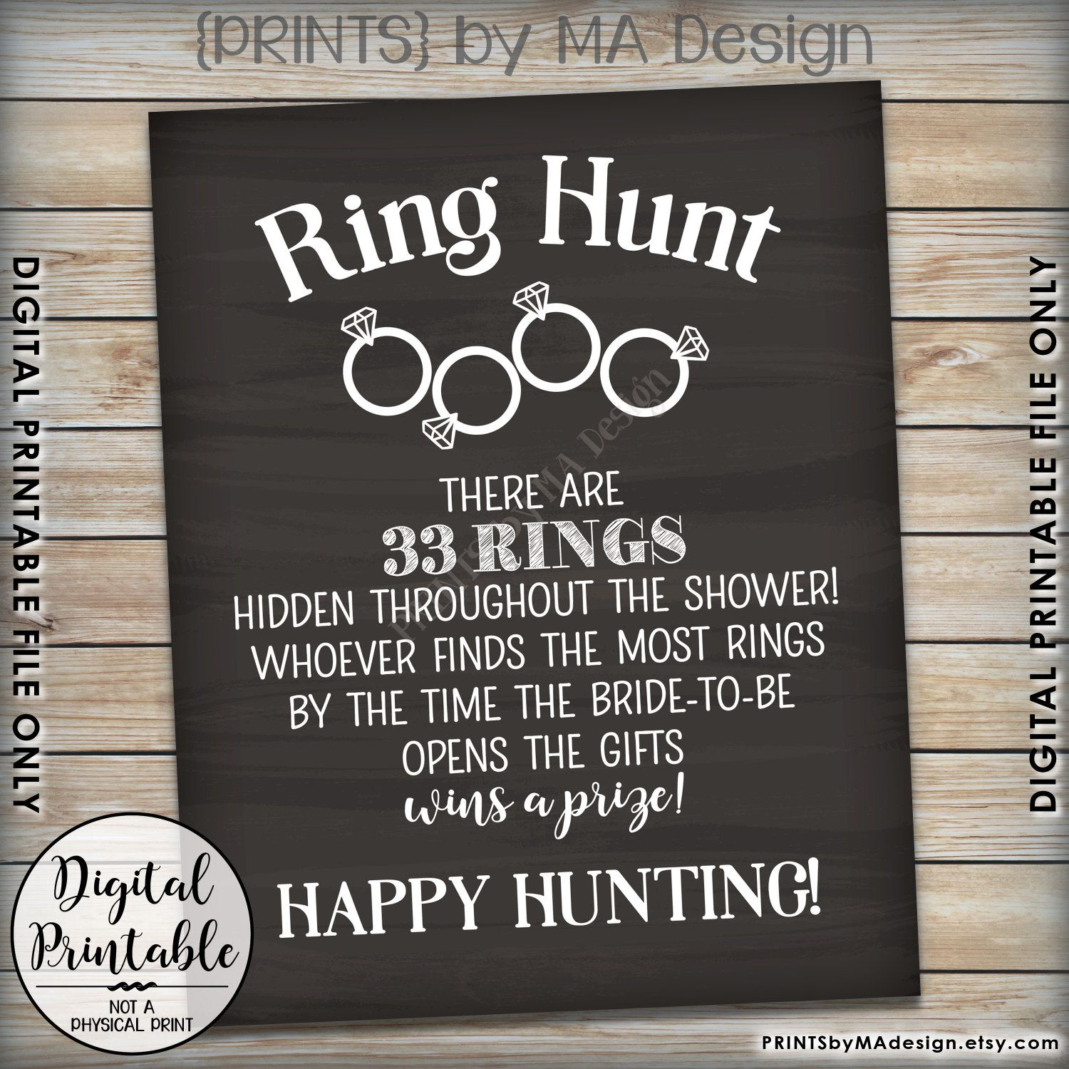 couples bridal shower games free%0A Change this to say There are    Days until The wedding  u     that many rings  hidden throughout the shower  Whoever finds the most Rings by the time the