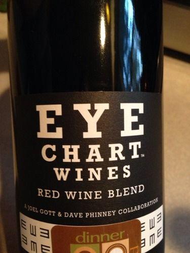 Joel Gott Wines Eye Chart Red Truly Fun Optometry Themed Item