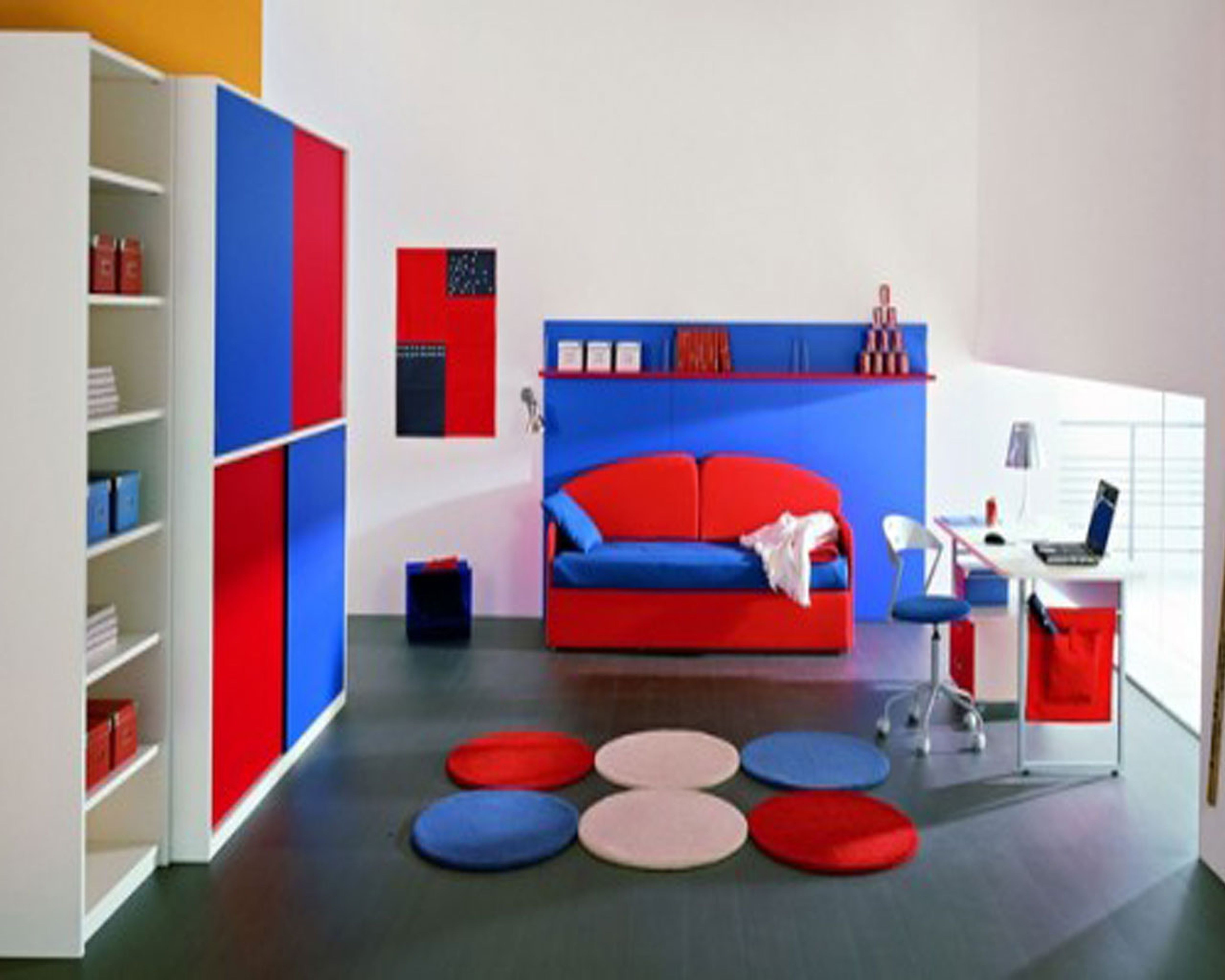 27 teenagers study room design with interactive decoration