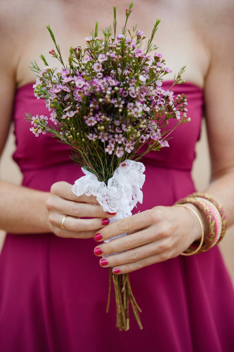 A prince edward island rustic pink and white wedding bouquets pink wax flower bouquet image by rachel peters photography izmirmasajfo