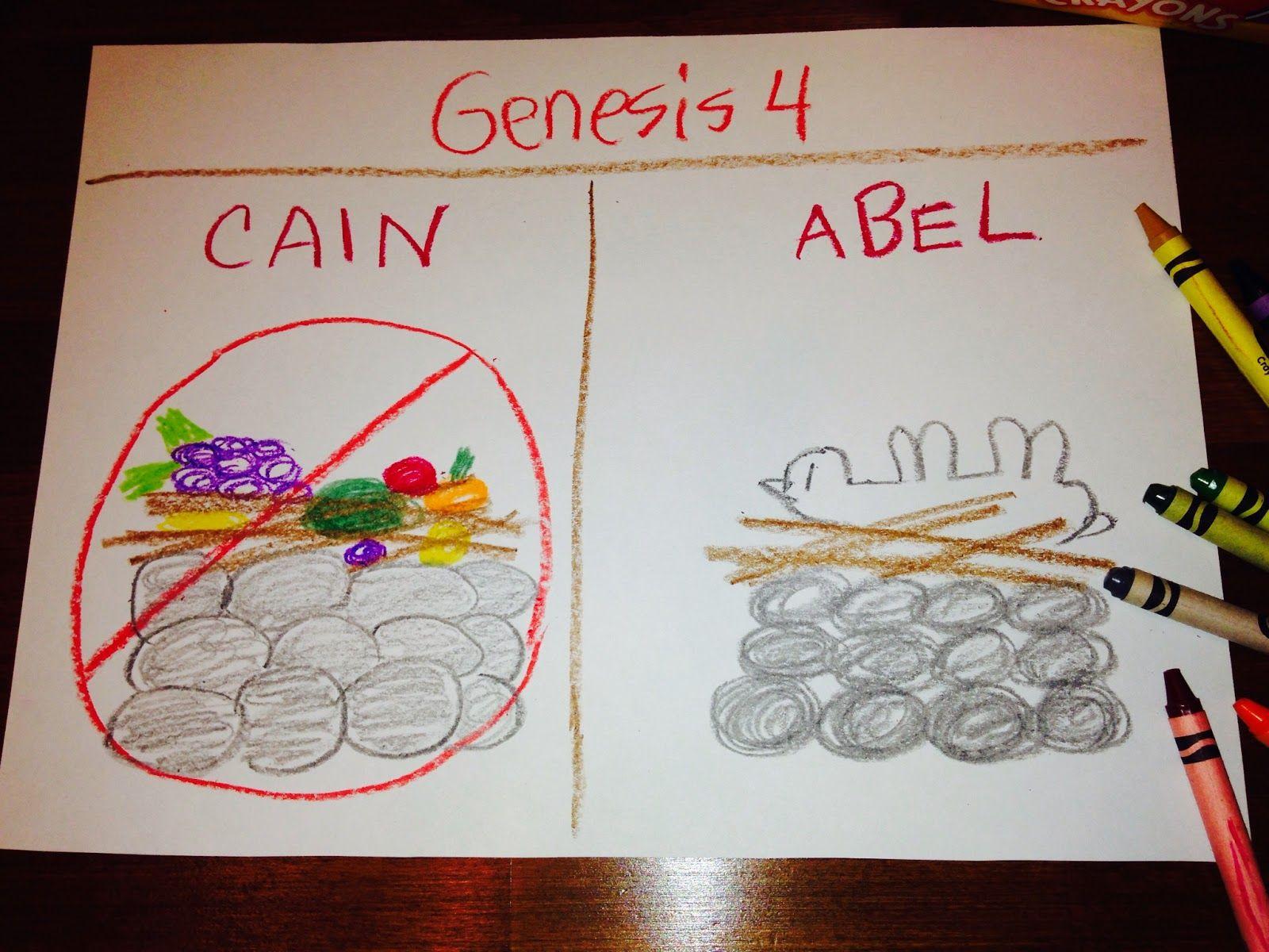 Cain and abel craft ideas - Children Bible Lessons Kids Bible Children S Genesis Book Genesis 1 Cain And Abel Memory Verse Children S Bible Bible Activities