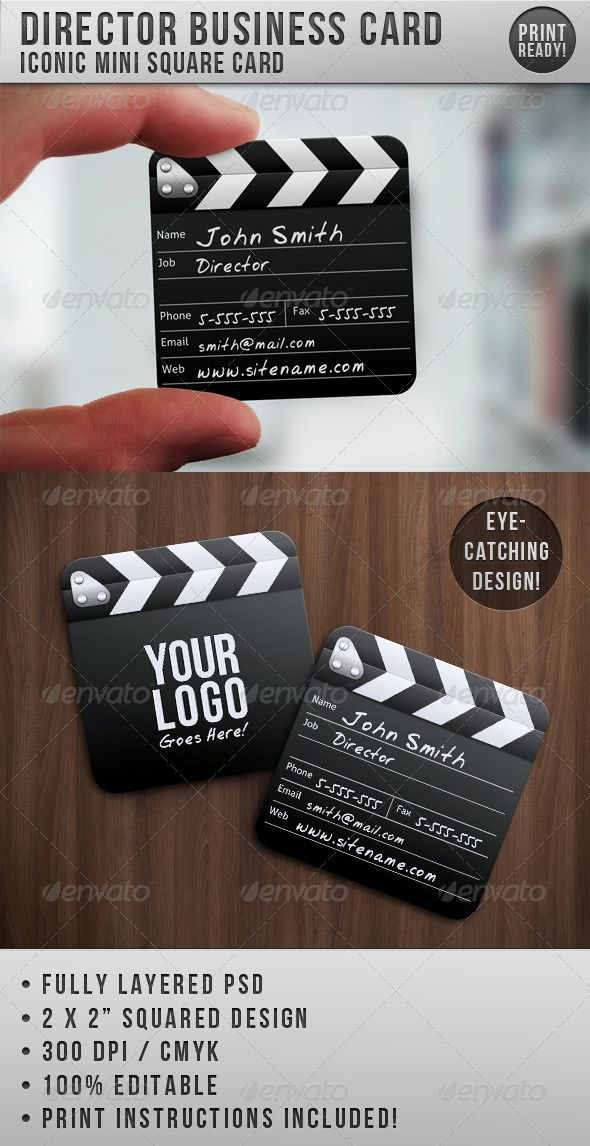 Director mini squared business card business cards squares and director mini squared business card graphicriver item for sale reheart Choice Image
