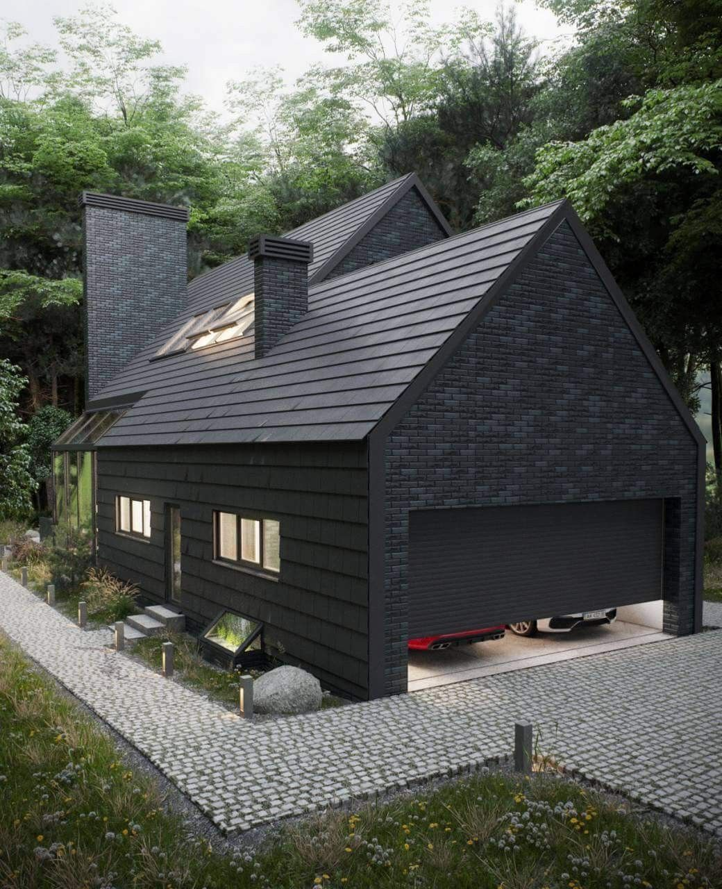 Best Love The Blend Of Black And Grey Brick Coupled With The 400 x 300