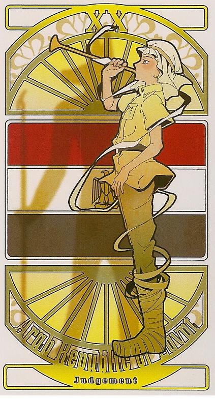 Egypt The Judgement | Hetalia Tarot Card