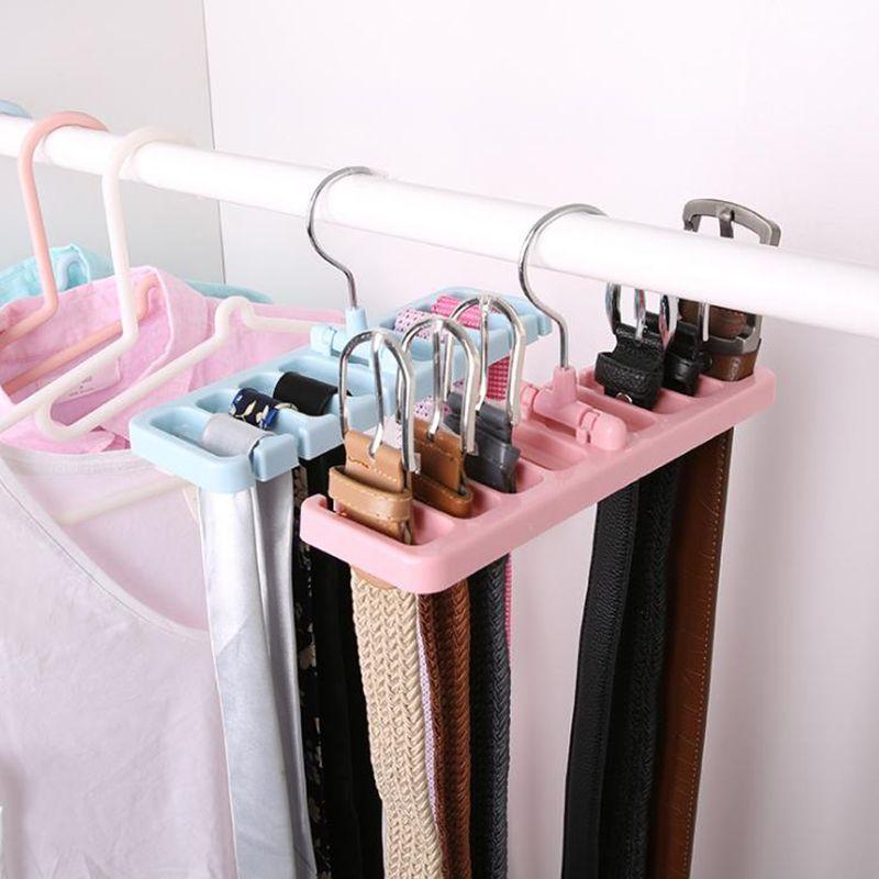 EasyView Pink Shoe Rack Organizer Belt Hanger