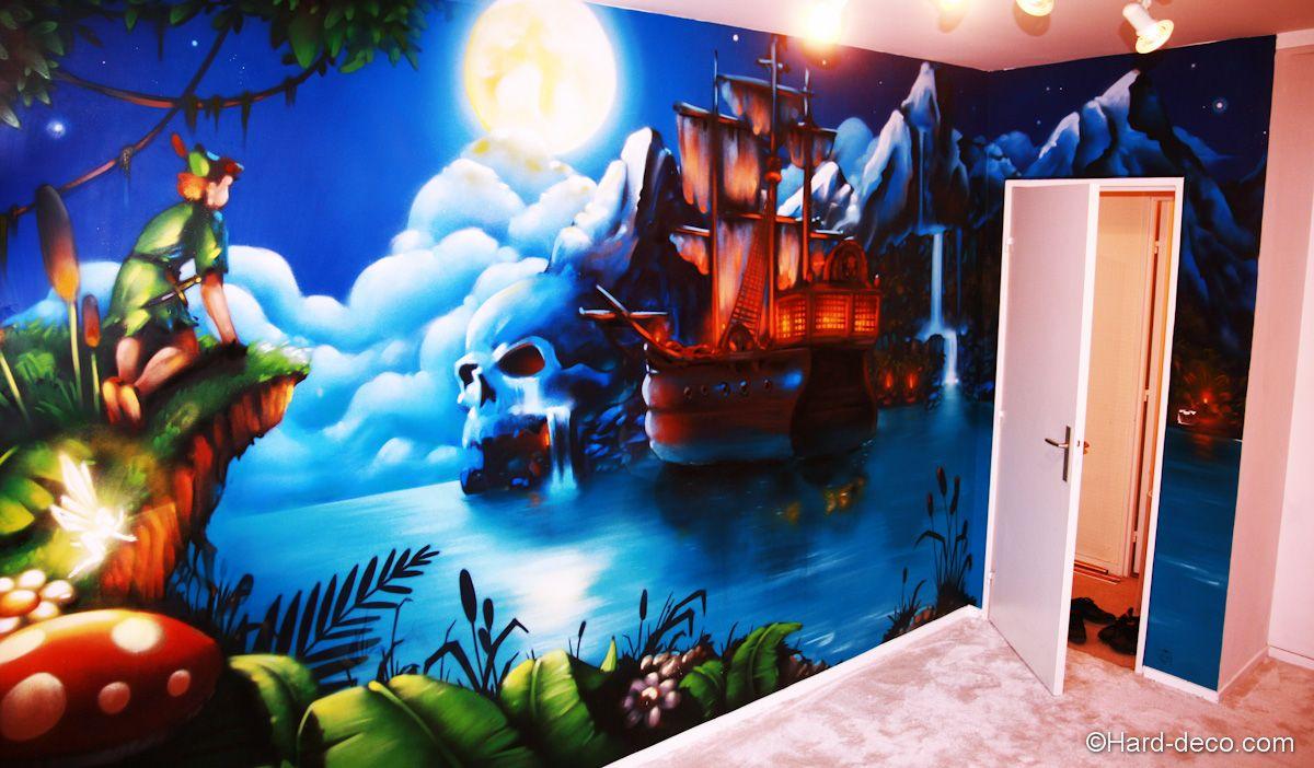 Peter pan et bateau du capitaine crochet chambre de - Peter pan et capitaine crochet ...