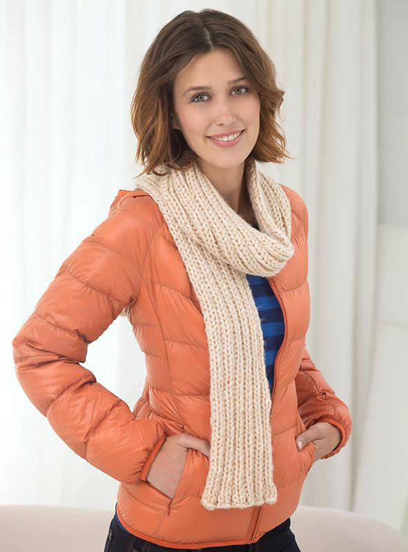 The perfect scarf for the cooler temps. ahead! Lion Brand Heartland ...