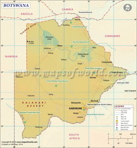 Nice botswana map travelquaz pinterest rivers and city nice botswana map gumiabroncs Image collections