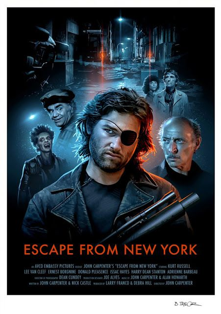 Escape From New York Poster.Escape From New York Brian Taylor Movie Art Interpretive