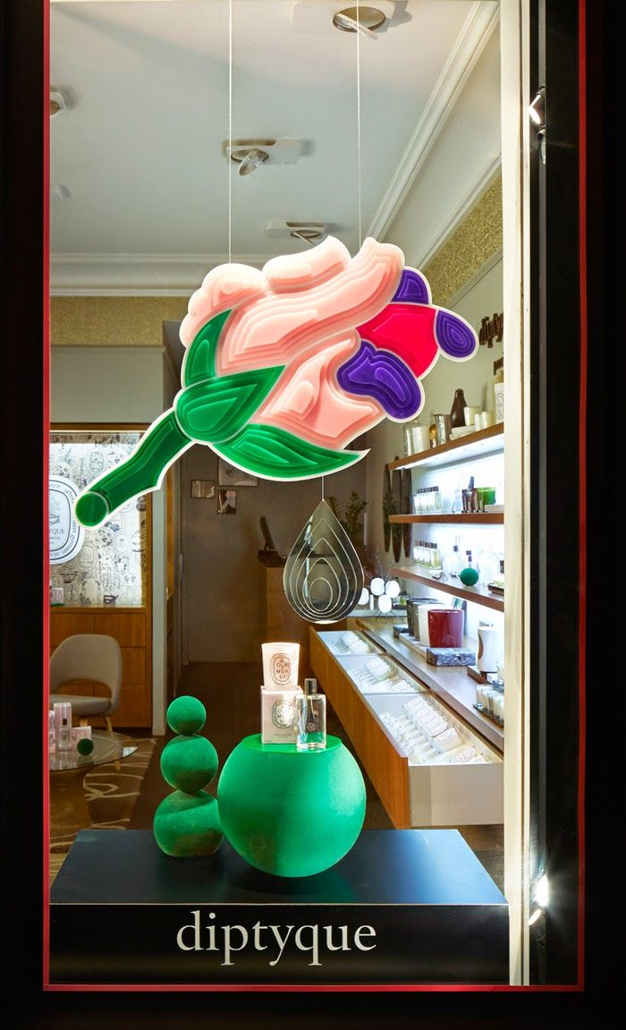 diptyque la rose window displays store pinterest window diptyque la rose window displays