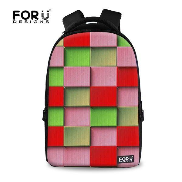 For U Design Geometric Custom Canvas Backpack Looking Branded Bagpack For  Women - Buy Looking Branded Bagpack e943f4db8c
