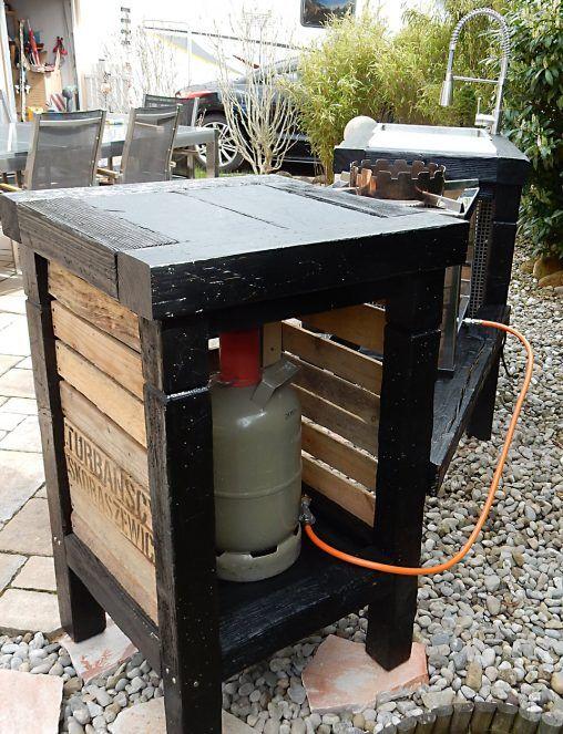 Bildergebnis für outdoor küche paletten | Outdoorküche | Pinterest ...