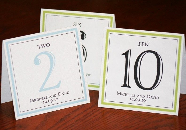 Table Numbers for Wedding or Event - elegant - set of 10. $15.00, via Etsy.