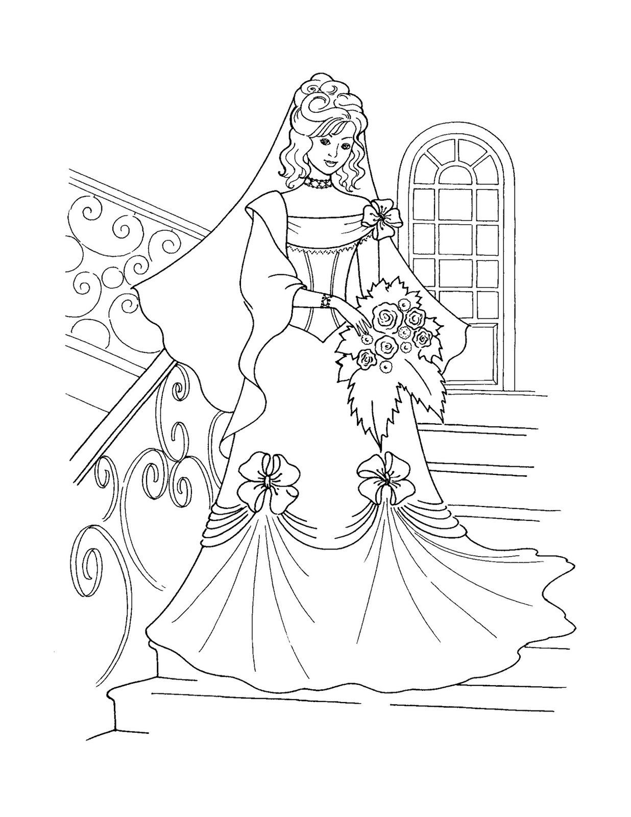 Free printable coloring pages barbie princess - Coloring Pages Of Princess