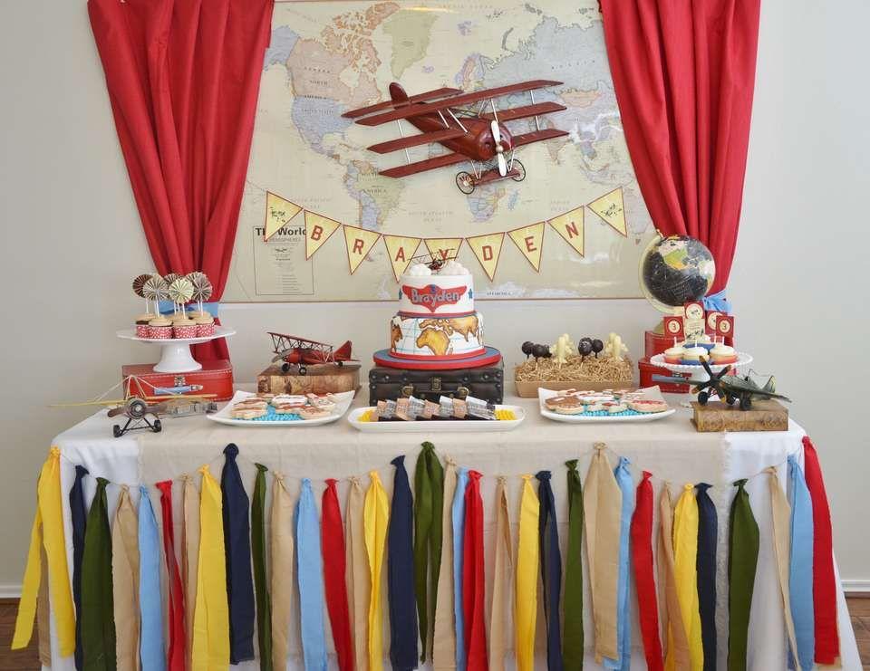 Vintage Airplane Birthday Braydens 3rd Vintage Airplane Birthday