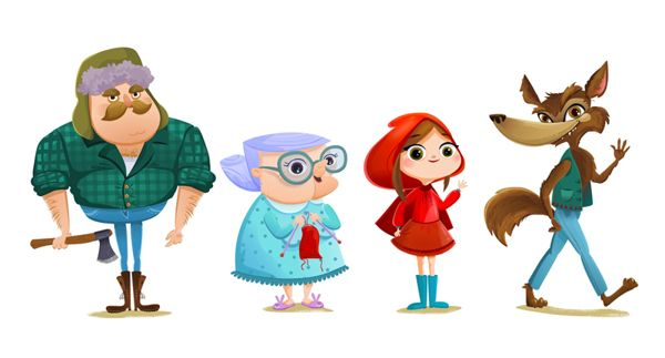 Little Red Riding Hood Game On Behance Red Riding Hood Red