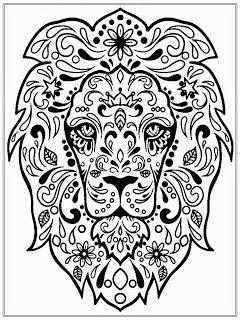 lion head coloring pages for adult detailed lion head colouring in page pinterest google search - Coloring Pages Of Lions