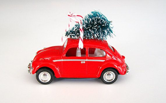 Vw Bug Beetle Christmas Ornament With Tree On Top Vw Bug Car Classic Cars