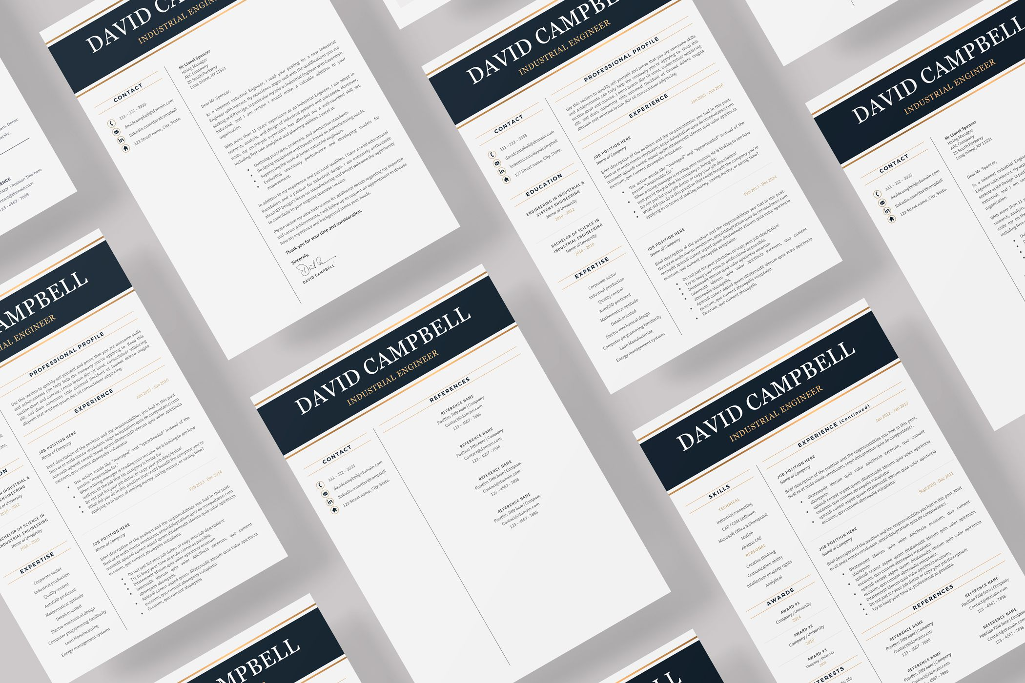 Creative Resume Templates For Ms Word And Mac Pages Professional Resume Templates And Matching Resume Template Resume Template Professional Engineering Resume