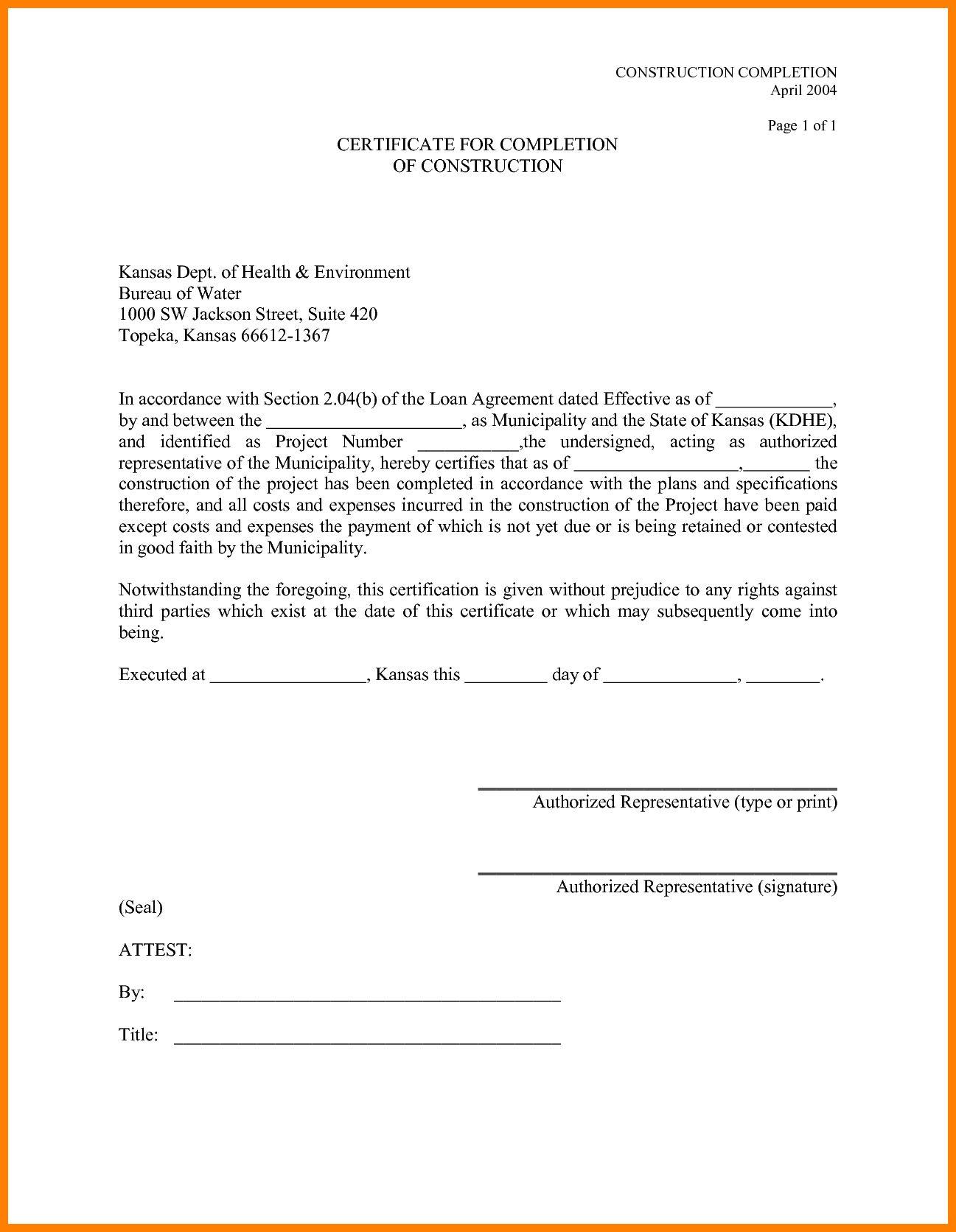 The Captivating 11 Certificate Job Pletion Templates