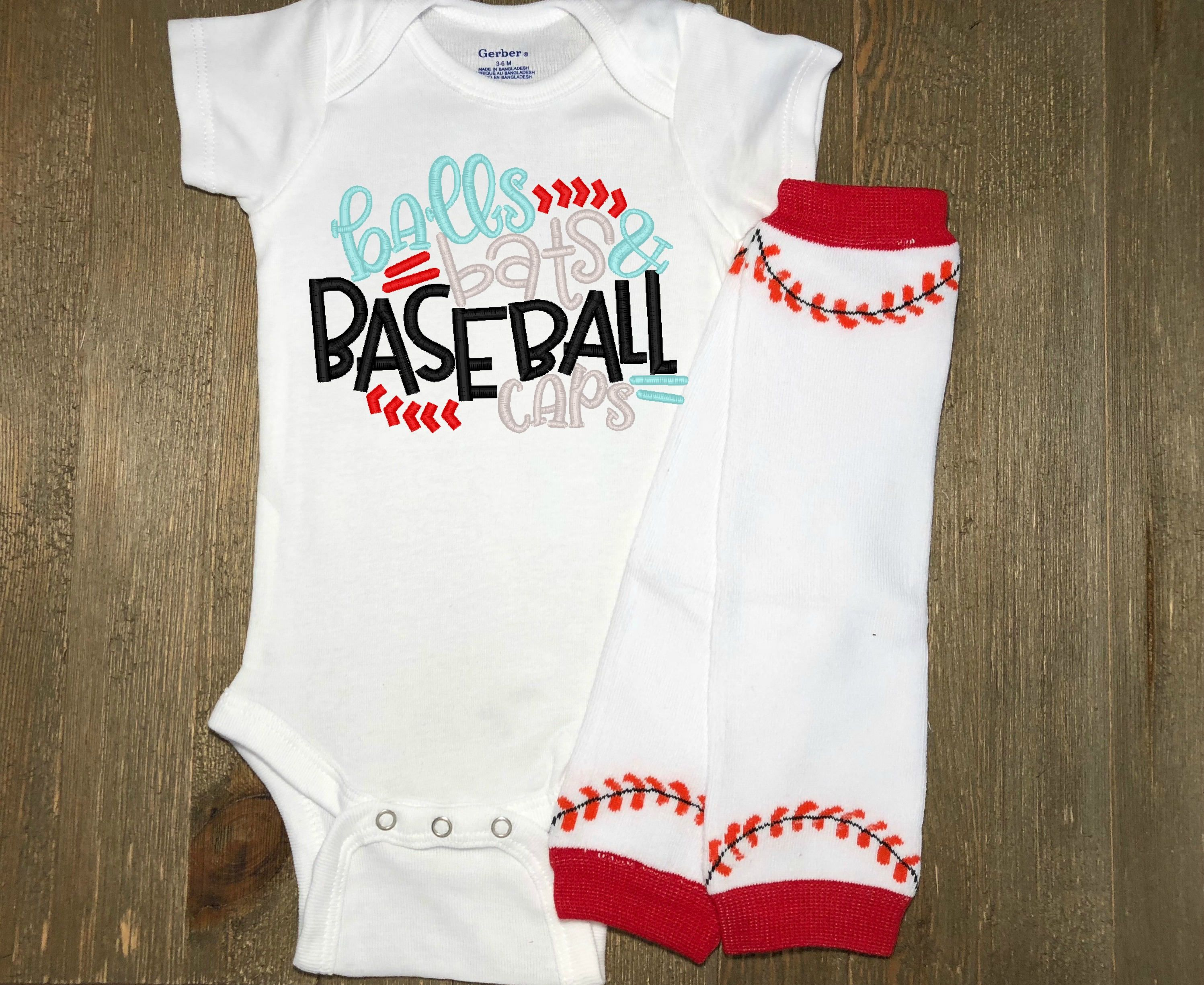 8fd4f9efff4 Baseball Design Onesie® and Leg Warmer Set