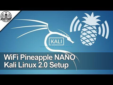 WiFi Pineapple NANO: Kali Linux 2 0 Internet Connection