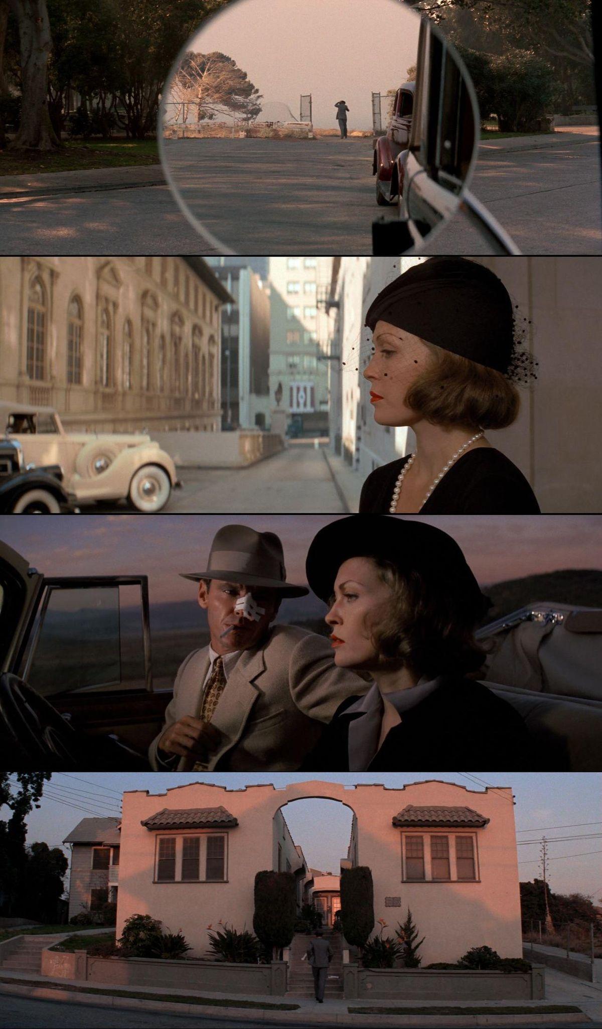 Chinatown (1974) | Cinematography by John A. Alonzo | Directed by Roman Polański | Starring: Jack Nicholson, Faye Dunaway Descubra 25 Filmes que Mudaram a História do Cinema no E-Book Gratuito em http://mundodecinema.com/melhores-filmes-cinema/