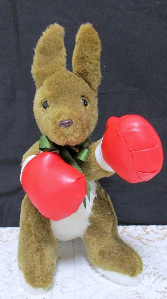 Vintage Australian Boxing Kangaroo Plush Stuffed Animal ...