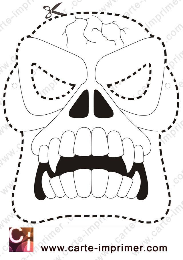 Masque d 39 halloween a imprimer votre image id 50 sur - Masque qui fait peur a imprimer ...