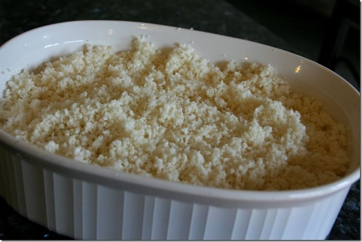 """Cauli-Rice  It took a few years of eating this """"rice"""" before my husband realized that he was eating cauliflower and my daughter loves this Cauli Rice with a pat of butter."""