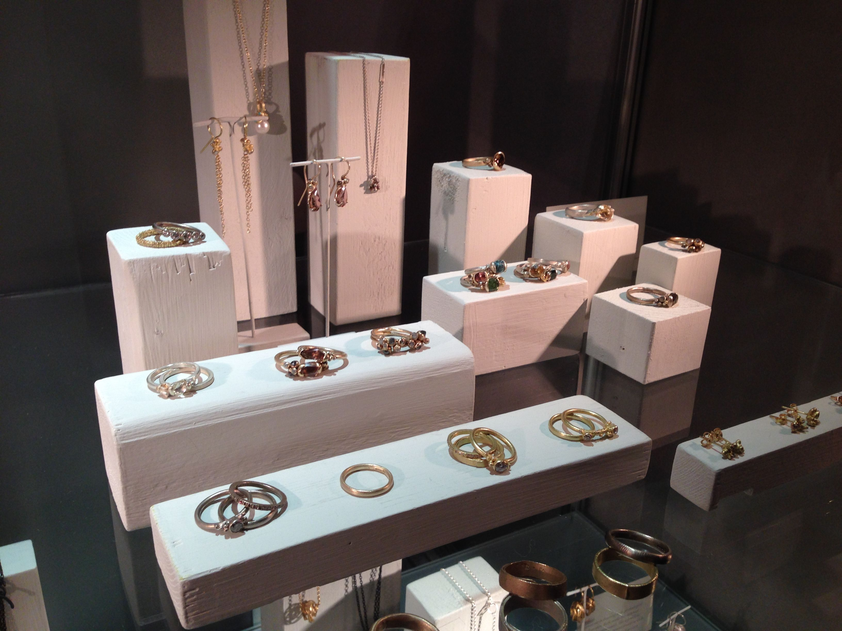 Window display ideas for jewelry  ruth tomlinson  displays art  pinterest  display jewellery