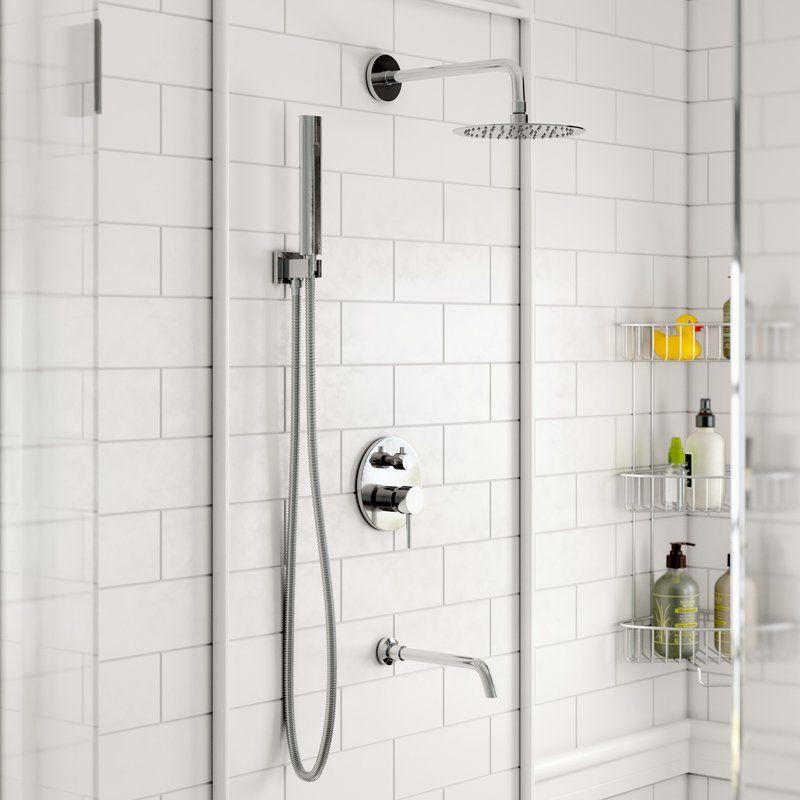 Bustillos Diverter Complete Shower System With Rough In Valve
