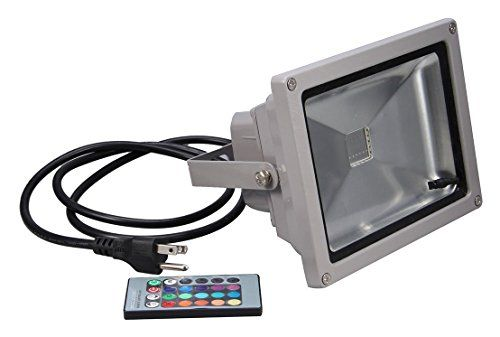 Generic Econo Led 558866 Remote Control Rgb Waterproof Flood Light 16 Different Color Tones 10w Want To Know More Led Flood Lights Led Flood Flood Lights