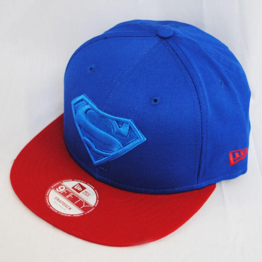 New Era 9Fifty Superman Poptonal Snapback Flat Peak Hat Cap ... b3a88c002d6
