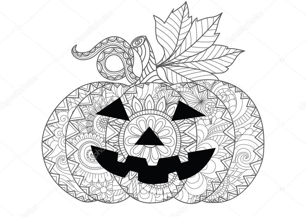 Скачать - Doodle дизайн Хэллоуин тыква на Хэллоуин карты ...