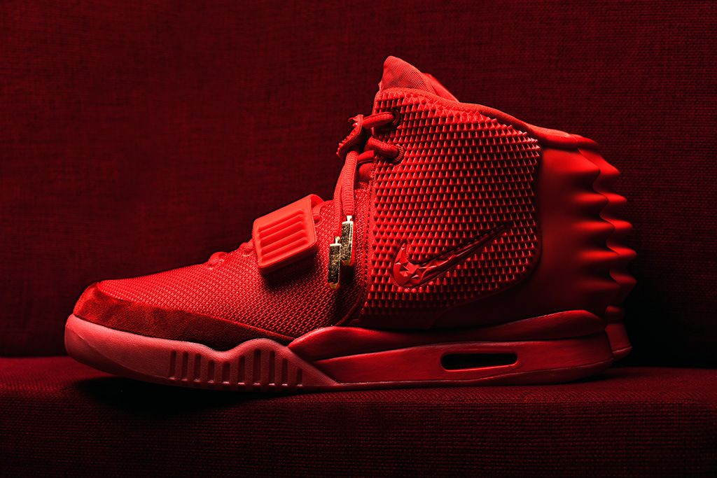 yeezy all red