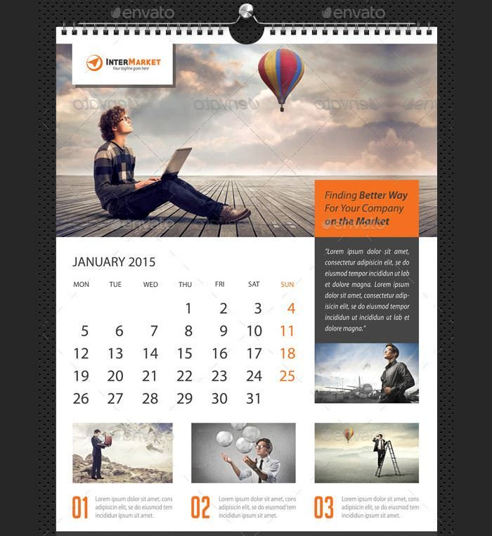 24 Best Business Calendar Templates 2015 Samples Pinterest