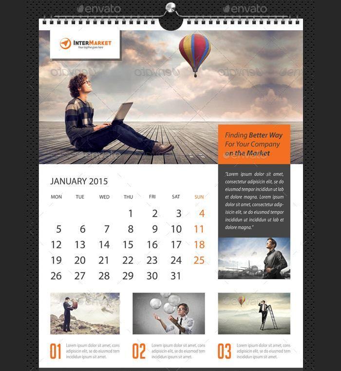 39 Best Business Calendar Templates 2015 Samples Wall Calendar Design Business Calendar Calendar Design