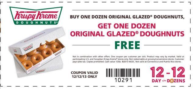 Krispy Kreme Doughnuts Coupon Buy 1 Dozen Doughnuts Get 1 Dozen