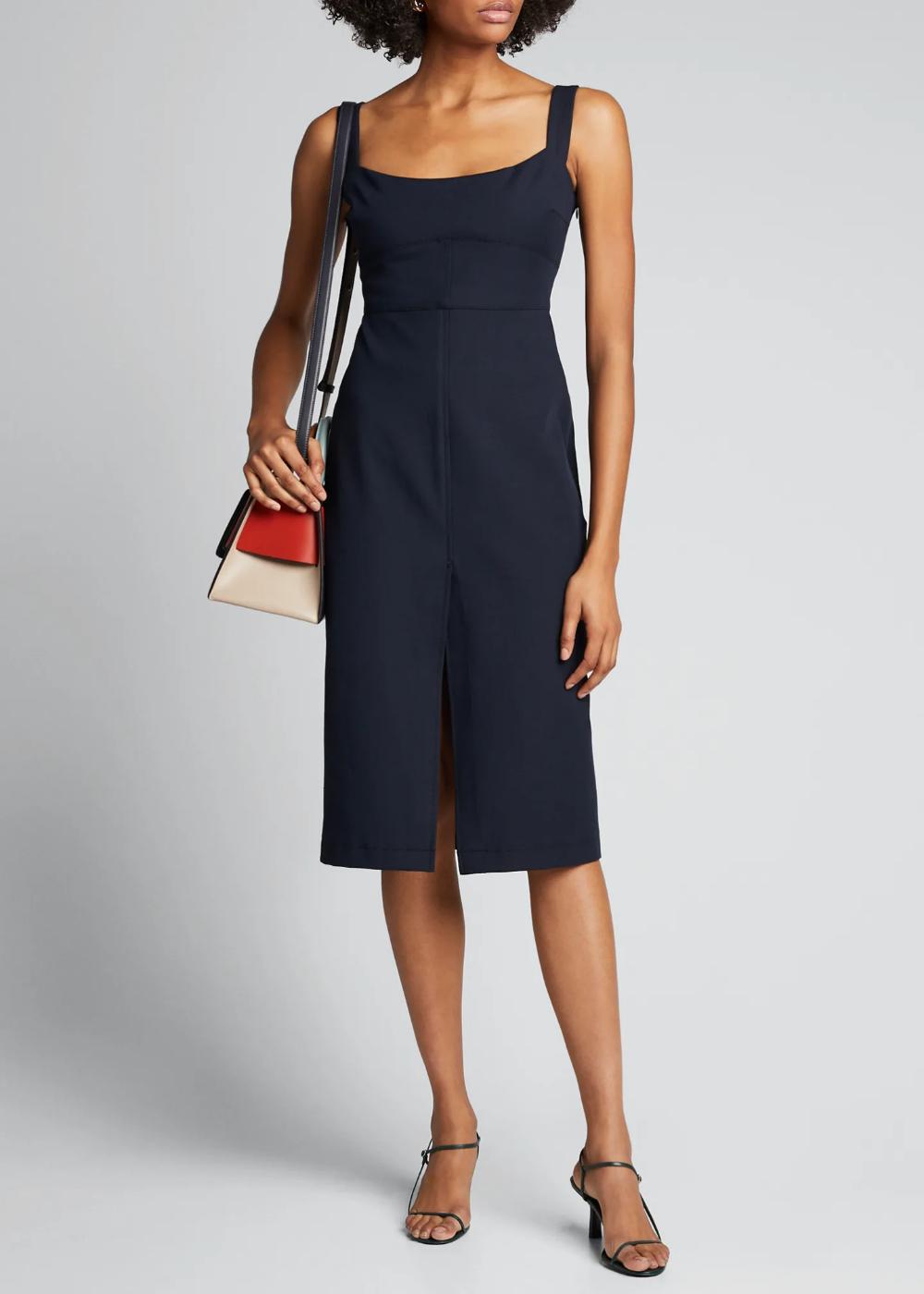 Rachel Comey Rankin Bi Stretch Midi Dress Stretch Midi Dress Midi Dress Dresses [ 1400 x 1000 Pixel ]