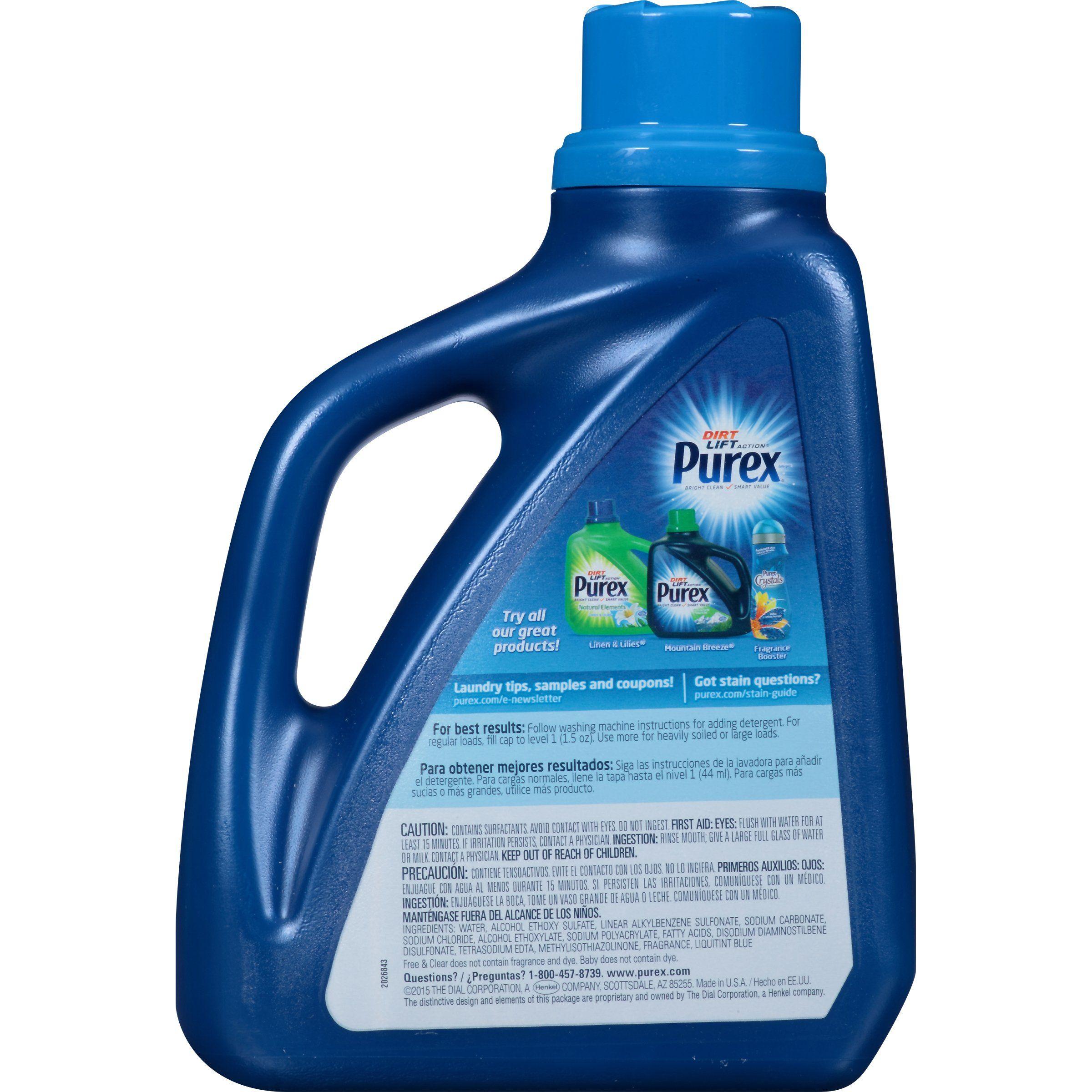Purex Liquid Laundry Detergent With Crystals Fragrance Fresh