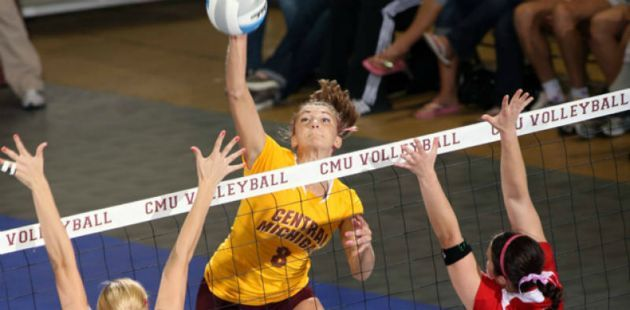 Lindsey Dulude Excels In The Classroom And On The Volleyball Court For Cmu Sports Cmu Your Story