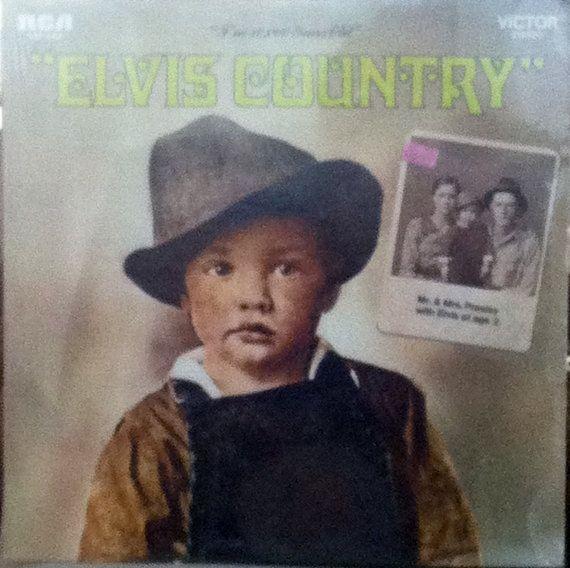 """Vintage Elvis Presley LP, Elvis Country (""""I'm 10,000 Years Old""""), RCA"""